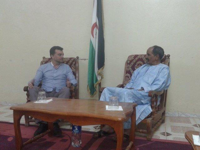 Maíllo y el presidente de la República Saharahui