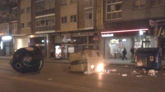 Nuevos incidentes en Gamonal, en Burgos