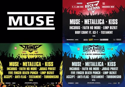 Metallica, Kiss, Muse y Judas Priest, juntos en festivales europeos