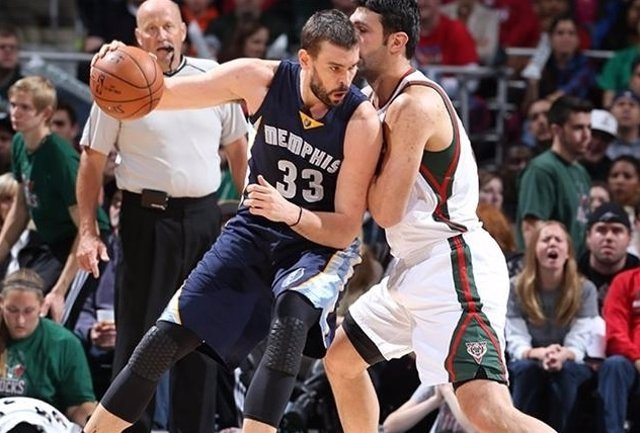 Marc Gasol Memphis Grizzlies Milwaukee Bucks