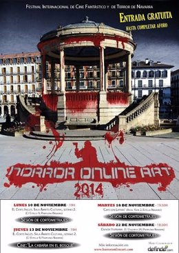 Cartel del festival de cine Horror Online Art 2014.