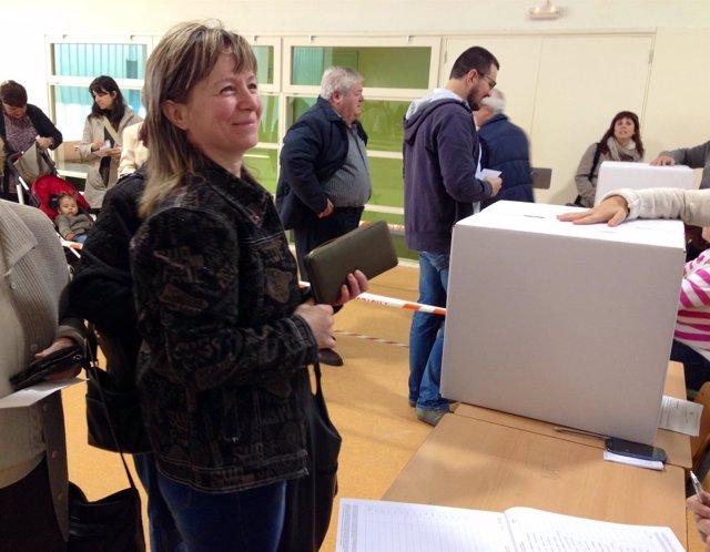La ciudadana de Pramova (Rumanía) Viorica Seler en el 9N