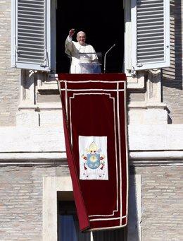 Papa Francisco durante el Angelus