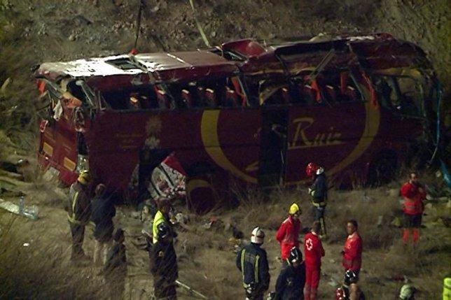 El accidente de autobús de Cieza deja 14 fallecidos
