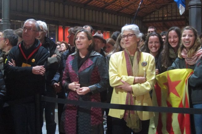Carme Forcadell (ANC) y Muriel Casals (Òmnium) valoran el 9N