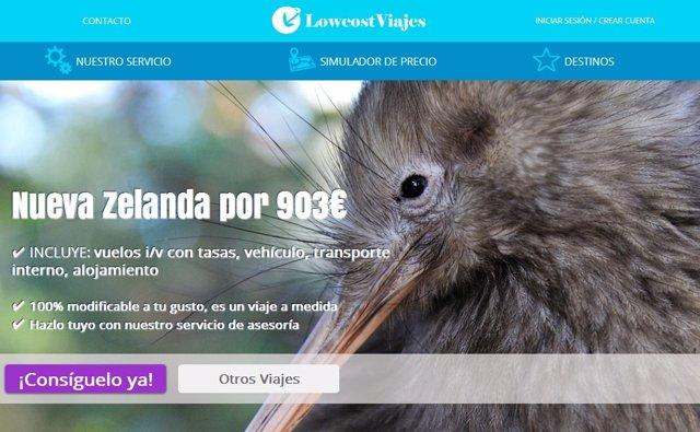 Economía/Empresas.- LowcostViajes lanza un portal de viajes a medida hasta un 50% más baratos que por agencia