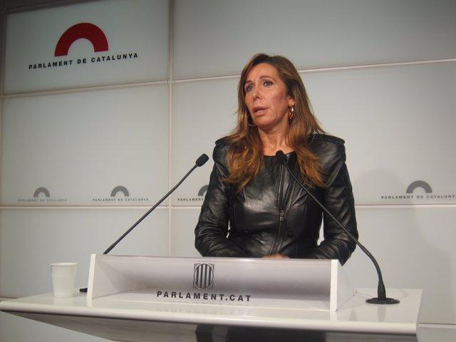 La presidenta del PP catalán, Alícia Sánchez-Camacho