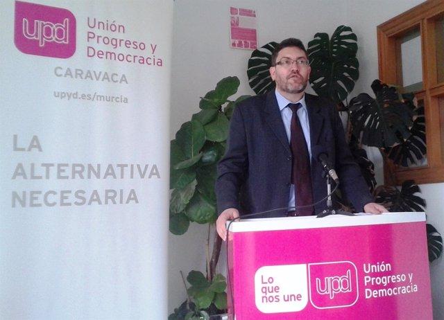 El concejal y portavoz de UPyD en Caravaca, Miguel Sánchez