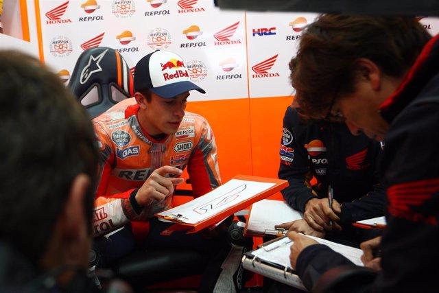 Marc Márquez en el test de MotoGP en Cheste