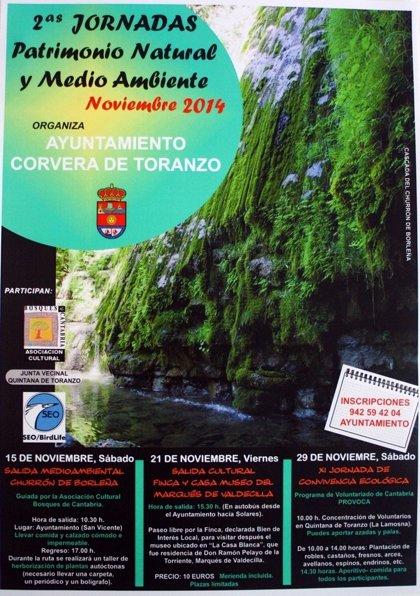 Corvera de Toranzo.- Las II Jornadas sobre Patrimonio Natural y Medio Ambiente se celebran los días 15, 21 y 29