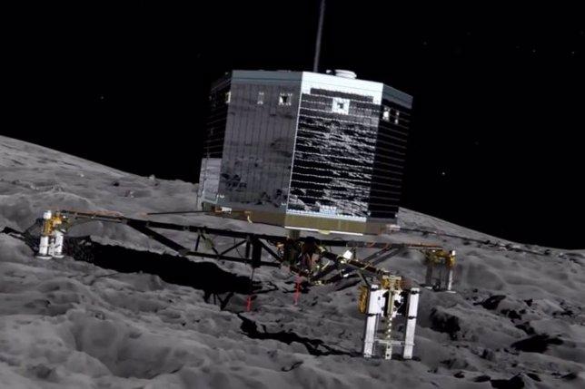 Philae aterriza en el cometa 67P sin arpones