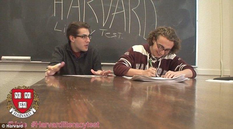 Estudiantes de Harvard tratan de pasar el test que tenían que superar los negros en 1964 para votar... y suspenden