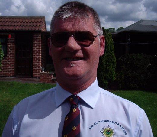 El veterano inglés Gordon Hoggan de la guerra de l