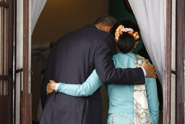 Obama y Suu Kyi