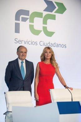 La presidente de FCC, Esther Koplowitz, y el consejero delegado, Juan Béjar