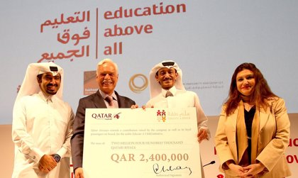 Qatar Airways entrega más de 530.000 euros para proyectos de educación infantil en más de 30 países
