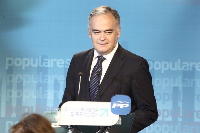 Esteban González Pons, vicesecretario general de Estudios y Programas del PP