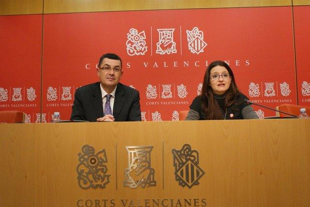 Enric Morera y Mònica Oltra en una imagen de archivo