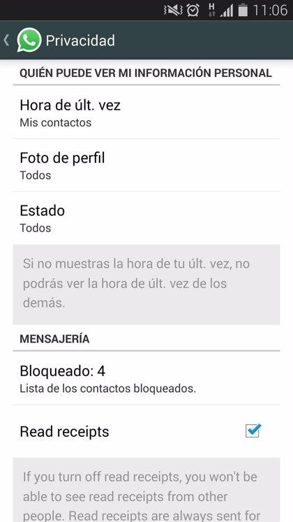 WhatsApp ya permite desactivar el doble check azul (con tutorial)