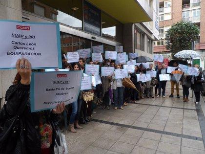 CANTABRIA.-El comité de huelga del SUAP y 061 se dirige a los municipios afectados por servicios mínimos para mostrar su desacuerdo