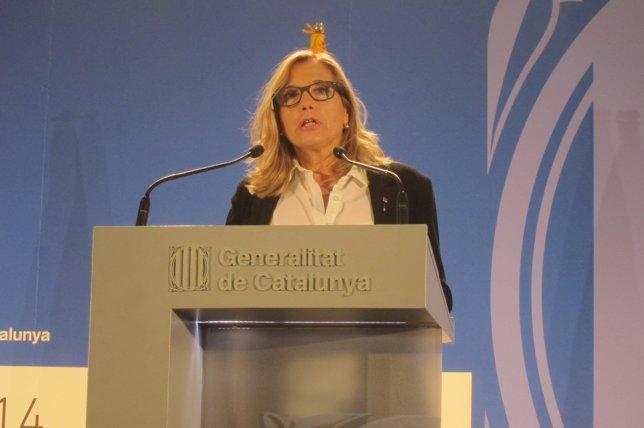 Joana Ortega da los resultados del 9N