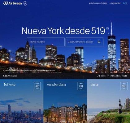 Air Europa lanza su nueva web en 17 mercados