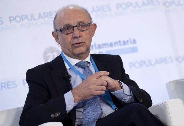 Cristóbal Montoro en la interparlamentaria del PP