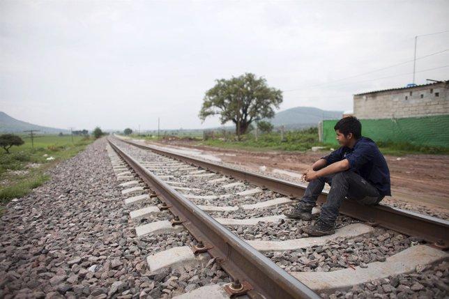 Santos Tome Hernandes, un inmigrante hondureño de 16 años, en México