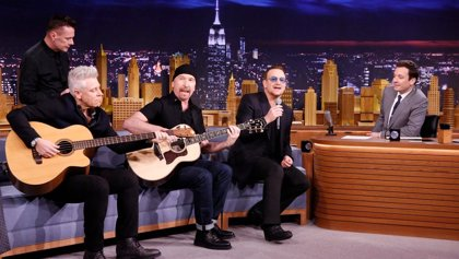 U2 cancelan su participación en The Tonight Show with Jimmy Fallon por un accidente de bici de Bono