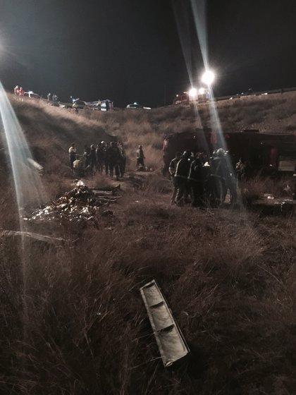 Tres heridos del accidente de autobús de Cieza se encuentran todavía en cuidados intensivos y REA