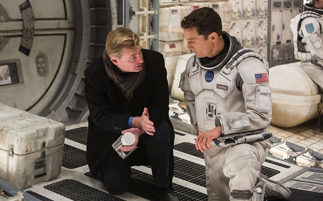 Christopher Nolan rodando Interstellar