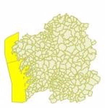 Las Rías Baixas y el litoral Oeste de A Coruña estarán este martes en alerta amarilla por viento en el mar, fuerza 7