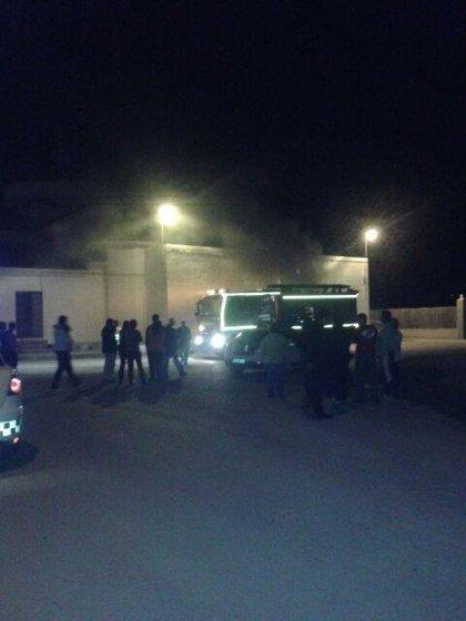 Incendio en el salón parroquial de El Albujón, cuando montaban su tradicional belén