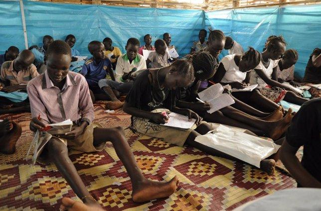 Escolares en Sudán del Sur