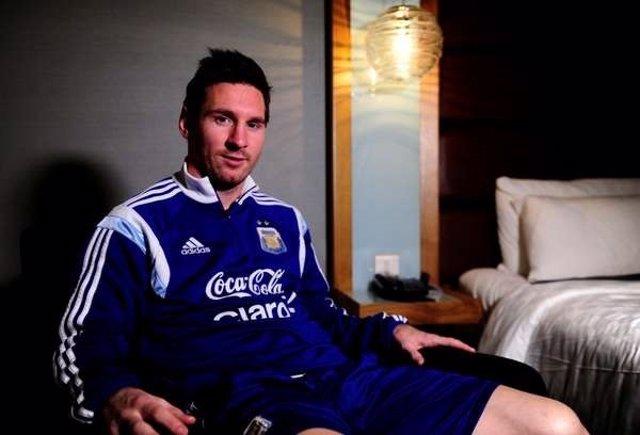 Leo Messi con la selección argentina