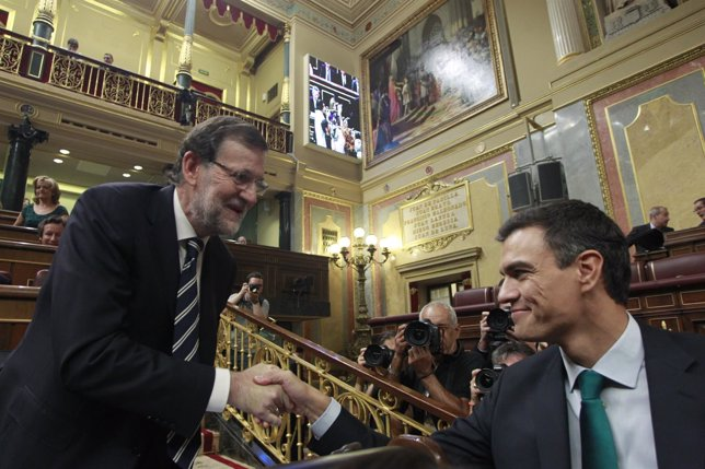 Mariano Rajoy y Pedro Sánchez en la sesión de control al Gobierno en el Congreso