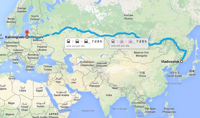 distancia en transporte público