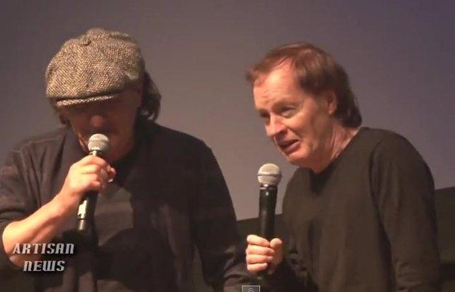 Brian Johnson y Angus Young de AC/DC