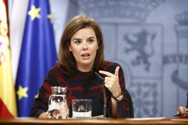 Soraya Sáenz de Santamaría en Moncloa