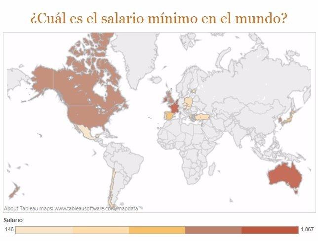 Salario mínimo en el mundo