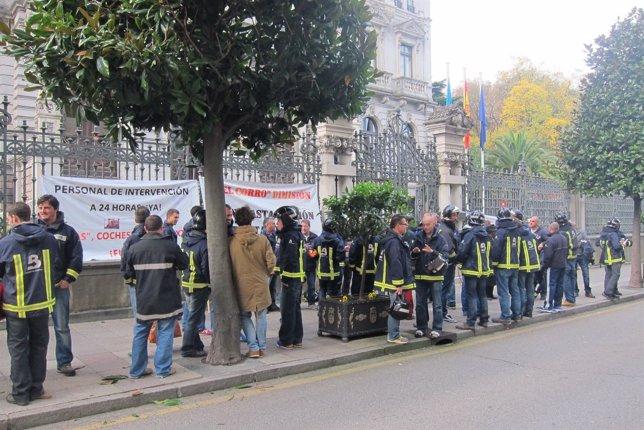 Concentración de Bomberos de Asturias