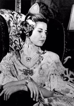 La Duquesa de Alba, fallera mayor de Plaza del Mercado en 1964