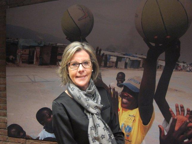 La presidenta de Unicef Comitè Catalunya, Anna Folch