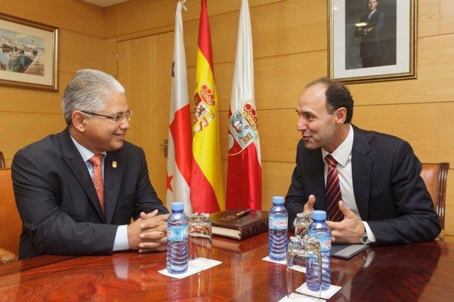 Diego con alcalde Panamá