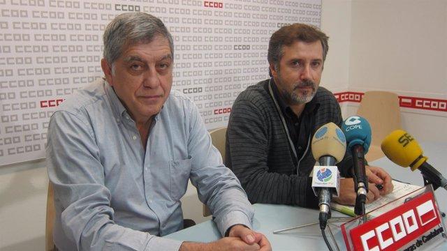 Fernando García (UGT) y Javier Ramírez (CCOO)