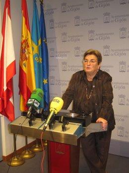 Carmen Veiga, edil del PSOE en Gijón