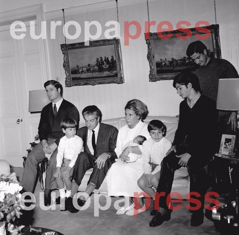 Foto de familia de la Duquesa de Alba