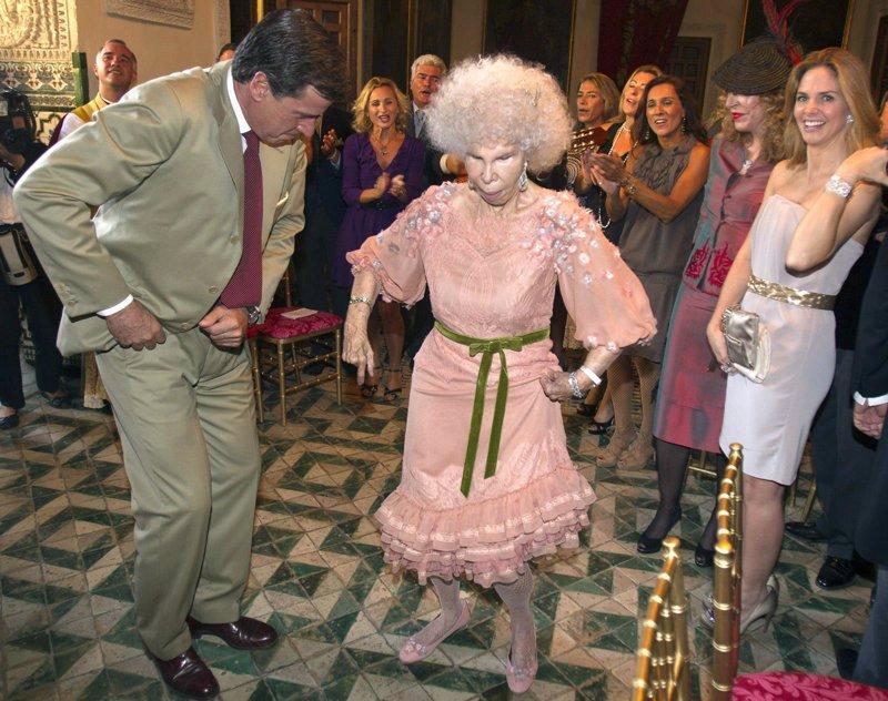 baile tras su tercera boda