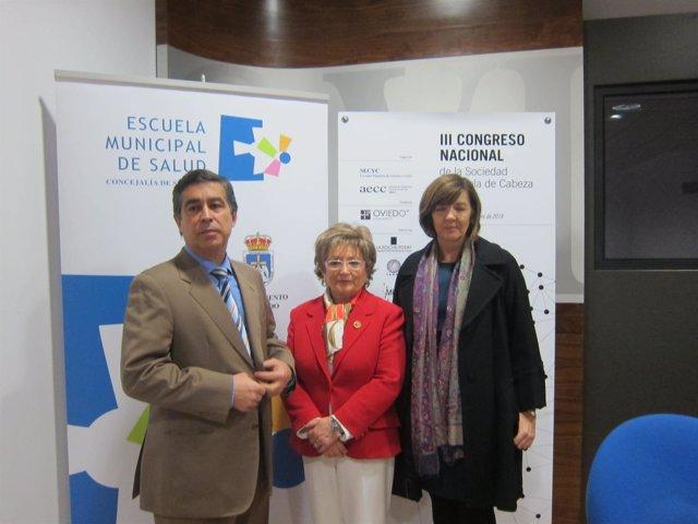 Trinidad Ordiz, Margarita Fuente y Santiago LLorente