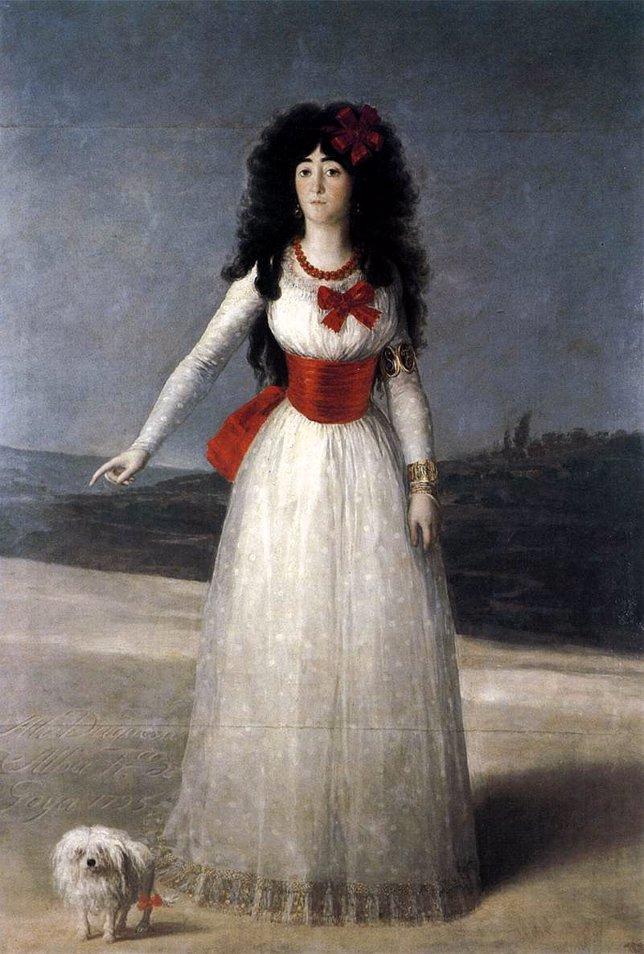 Duquesa de alba de blanco